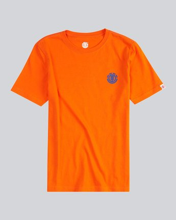 0 Script Back Ss Boy S - Tee Shirt for Men Orange H2SSA4ELMU Element