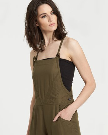 2 Rose Overall Jumpsuit Beige J2211ERO Element