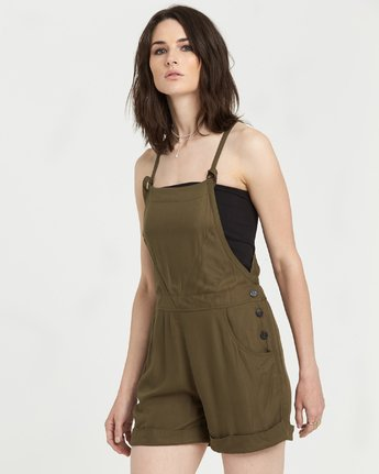 3 Rose Overall Jumpsuit Beige J2211ERO Element