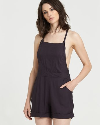 1 Rose Overall Jumpsuit Black J2211ERO Element