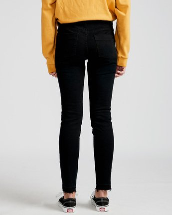 3 Saturday Skinny Fit Jeans Black J305QESA Element