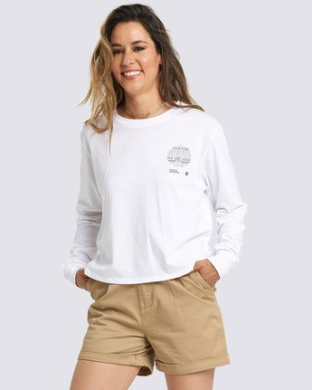 1 Nat Geo Long Sleeve T-Shirt White J4011ENA Element