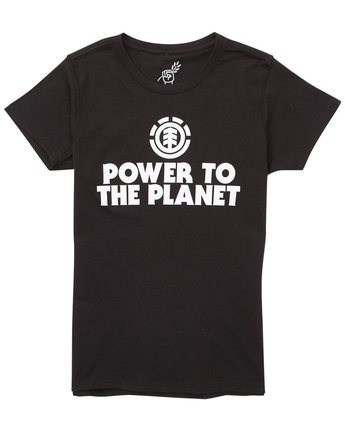 2 Power To The Planet Original Short Sleeve Tee  J401PEOR Element