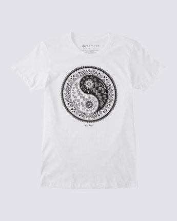 0 Yin Yang T-Shirt White J416BDYY Element