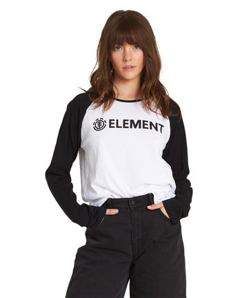 3 Element Logo Raglan Tee White J473QEEL Element