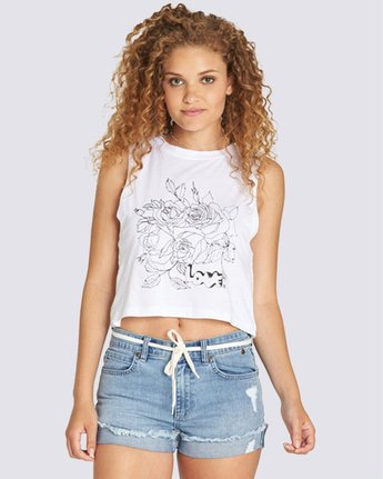 0 Outline Crop Tank White J491TEOL Element