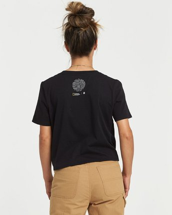 1 National Geographic Crop T-Shirt Black J4981ENA Element