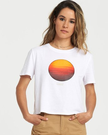 0 National Geographic Crop T-Shirt White J4981ENA Element