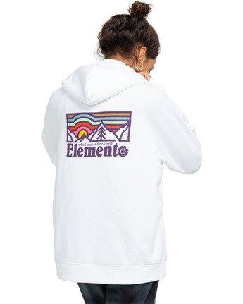 1 Landscape Hoodie White J6173ELA Element