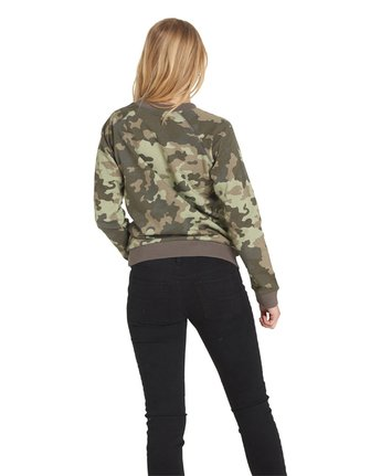 6 Get Out Crew Neck Fleece Camo J632QEGE Element