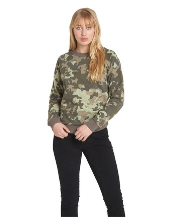 5 Get Out Crew Neck Fleece Camo J632QEGE Element
