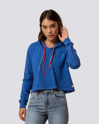 1 Lette Cropped Hoodie Blue J650QELE Element