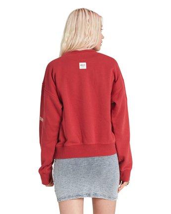 5 Season Star Crew Neck Sweatshirt Red J657SESE Element