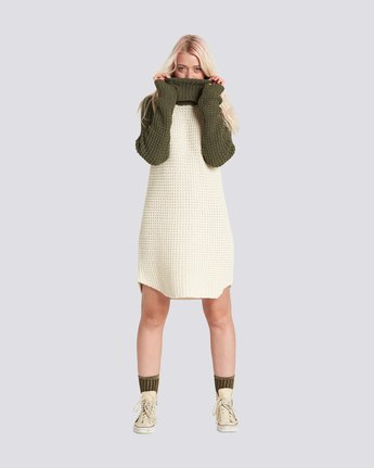 4 Chance Sweater Dress Beige JD71SECH Element