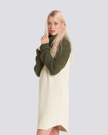 2 Chance Sweater Dress Beige JD71SECH Element