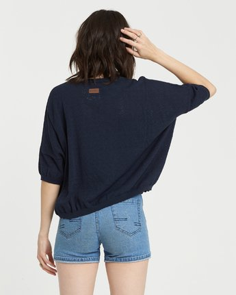 1 Memories Oversized Sweater Top Blue JV99NEME Element