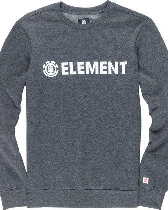 1 Blazin - Sweatshirt für Männer Grau L1CRA9ELF8 Element