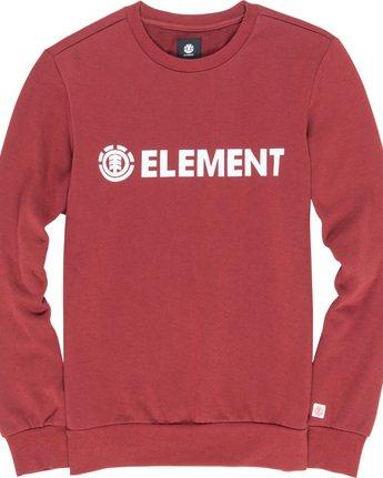 1 Blazin - Felpa da Uomo Red L1CRA9ELF8 Element
