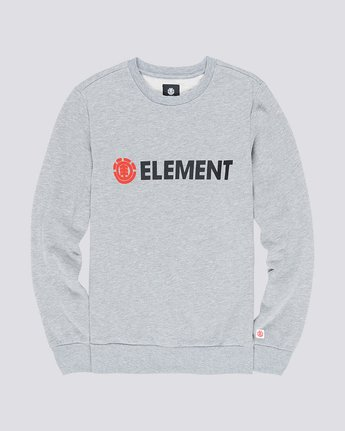 0 Blazin - Felpa da Uomo Gray L1CRA9ELF8 Element