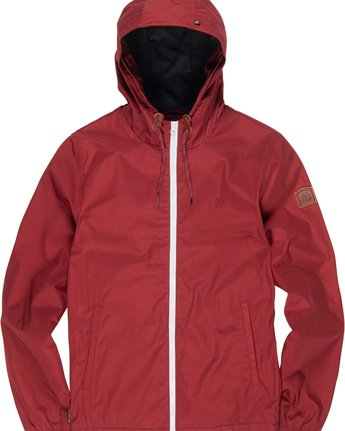 1 Alder - Hooded Jacket Red L1JKB5ELF8 Element