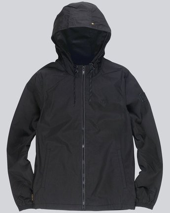 2 Alder - Hooded Jacket Black L1JKB5ELF8 Element