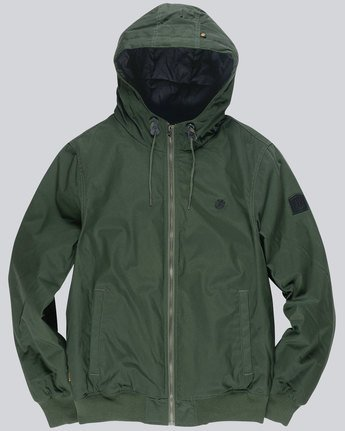2 Dulcey - Hooded Jacket Green L1JKC2ELF8 Element