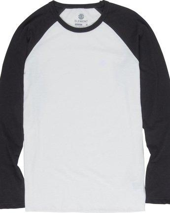 3 Blunt - Long Sleeve T-Shirt for Men White L1LSA8ELF8 Element