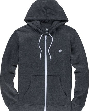 1 Cornell Classic - Zip-Up Hoodie for Men Grey L1ZHA1ELF8 Element