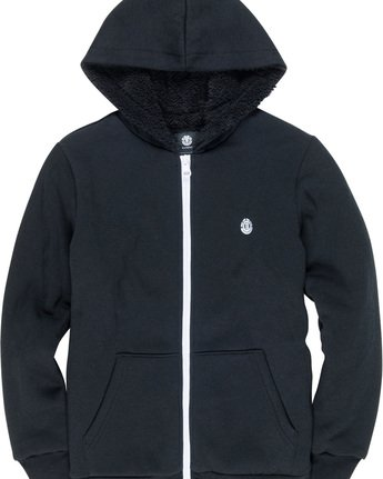 1 Bolton Boy - Zip-Up Hoodie Black L2WAA1ELF8 Element