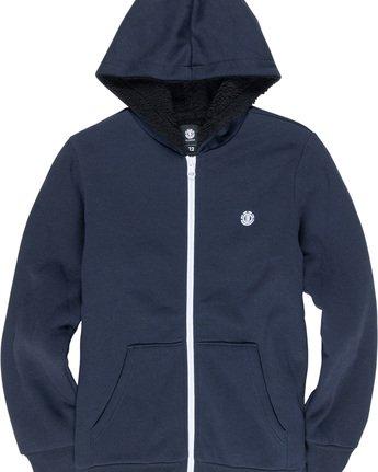1 Bolton Boy - Zip-Up Hoodie Blue L2WAA1ELF8 Element
