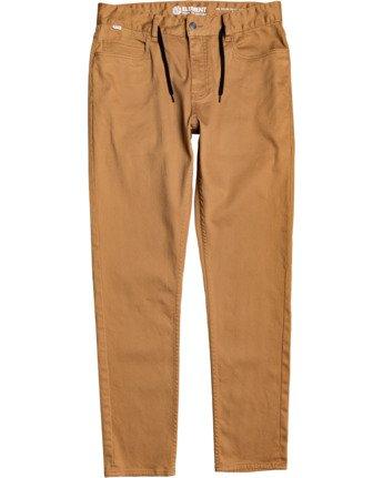 2 E02 Color Twill Pant Brown M3063E2C Element