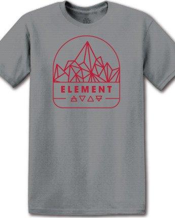 1 Summit Point T-Shirt Grey M4012ESU Element