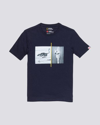 0 Nat Geo Ostrich Tee Blue M406VEOS Element