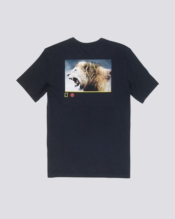 3 Nat Geo Snarl Tee Blue M406VESN Element