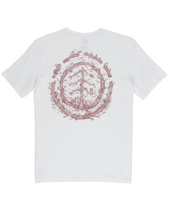 3 Too Late Logo Tee White M406VETO Element