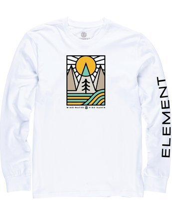 1 Logel Long Sleeve Shirt White M4704ELO Element