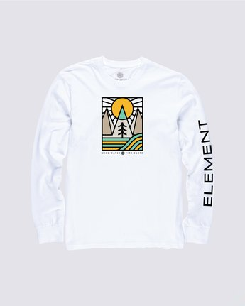 0 Logel Long Sleeve Shirt White M4704ELO Element