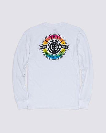 3 Medallian Long Sleeve T-Shirt White M475VEME Element