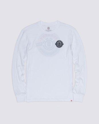 2 Medallian Long Sleeve T-Shirt White M475VEME Element