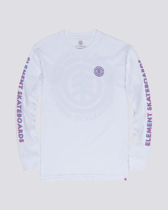 0 Chrome Long Sleeve Tee White M480WECH Element