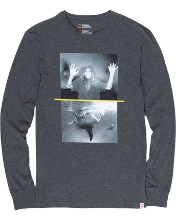 1 Nat Geo Shark Long Sleeve Grey M485VESH Element
