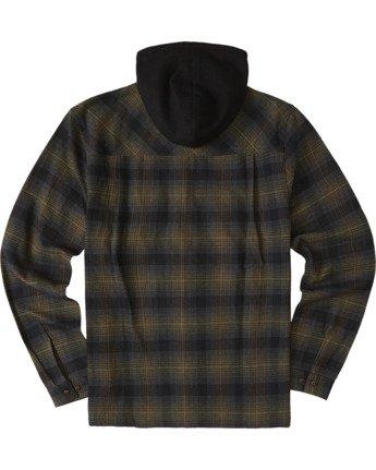 3 Wentworth Hooded Flannel Shirt Beige M554VEWB Element