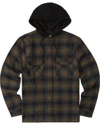 2 Wentworth Hooded Flannel Shirt Beige M554VEWB Element