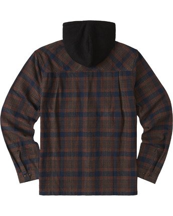3 Wentworth Hooded Flannel Shirt Blue M554VEWB Element