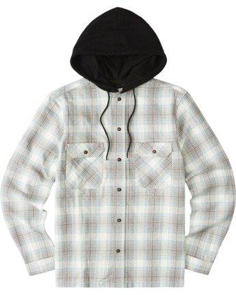 2 Wentworth Hooded Flannel Shirt White M554VEWB Element