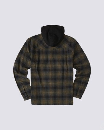 1 Wentworth Hooded Flannel Shirt Beige M554VEWB Element