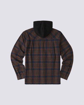 1 Wentworth Hooded Flannel Shirt Blue M554VEWB Element