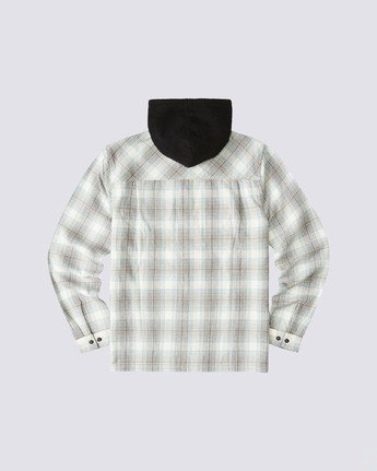 1 Wentworth Hooded Flannel Shirt White M554VEWB Element