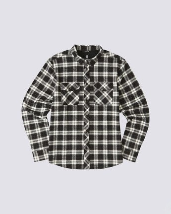 0 Tacoma Long Sleeve Flannel Shirt Black M5583ETA Element