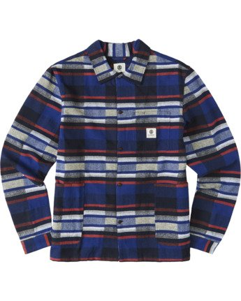 3 Americana Long Sleeve Flannel Blue M5623EAM Element